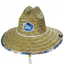Lazy Dazy Straw Lifeguard Hat