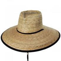Deep Affection Heart Palm Straw Lifeguard Hat