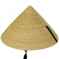 Braided Raffia Straw Pyramid Sun Hat