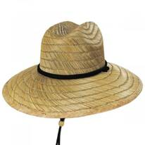 California Flag Rye Straw Lifeguard Hat