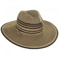 Alento Braided Toyo Straw Blend Fedora Hat