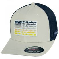 PFG Fish Flag Mesh FlexFit Fitted Baseball Cap