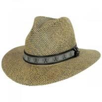 Echols Clubs Toyo Straw Safari Fedora Hat