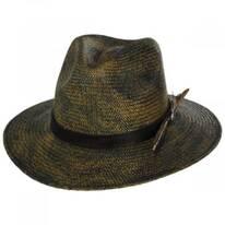 Vagabond Distressed Panama Straw Safari Fedora Hat