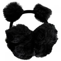 Pom Pom and Faux Fur Earmuffs