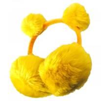 Pom Pom and Faux Fur Earmuffs