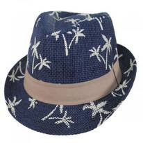 Toddlers' Palm Tree Toyo Straw Fedora Hat