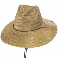 Bells Tan Rush Straw Lifeguard Hat