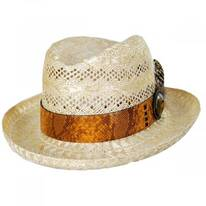 Shade Sisal Straw Homburg Hat