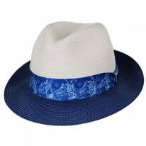Haring Two-Tone Braided Trilby Fedora Hat