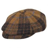 Hamilton Harris Tweed Plaid Wool Newsboy Cap