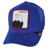 America Cord Mesh Trucker Snapback Baseball Cap