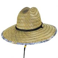 Gold Leaf Rush Straw Lifeguard Hat