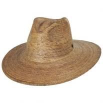Madero Palm Straw Fedora Hat