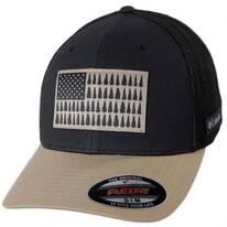 Tree Flag Natural/Navy Mesh Flexfit Fitted Baseball Cap