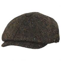 Carloway Herringbone Harris Tweed Wool Newsboy