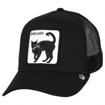 Bad Luck Cat Mesh Trucker Snapback Baseball Cap