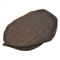 Square Bill Herringbone Wool Ivy Cap