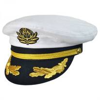 Deluxe Adjustable Yacht Captain Cap