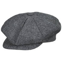 Herringbone Wool Blend Big Apple Cap