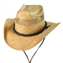 Bon Jovi Raffia Straw Vent Western Hat