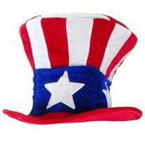 Uncle Sam Mad Hatter Top Hat - Adult