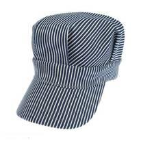 Engineer Striped Cotton Snapback Cap