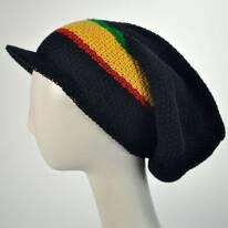 Ziggy Slouchy Cotton Knit Visor Beanie Hat