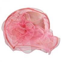 Magnolia Sinamay Straw Swinger Hat