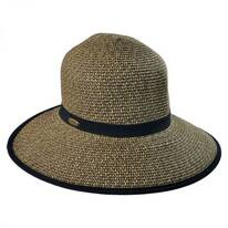 Toyo Straw Braid Facesaver Hat - Coffee
