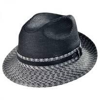 Mannesroe Polybraid Straw Fedora Hat